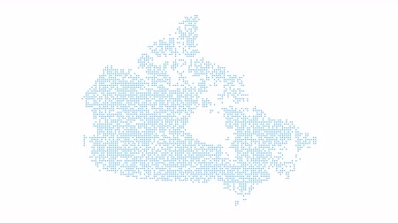 intricacy : Canada Dotted Map Networking Dot Motion Graphic 4K