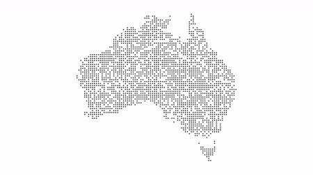 states : Australia Dotted Map Networking Dot Motion Graphic 4K Stock Footage
