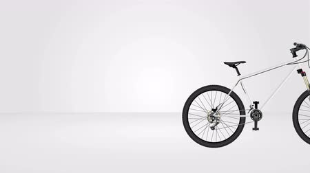 ciclismo : MTB mountain bike animation seamless looping, 3D rendering