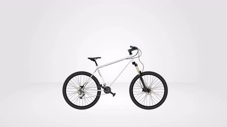 tudo : MTB mountain bike animation seamless looping, 3D rendering