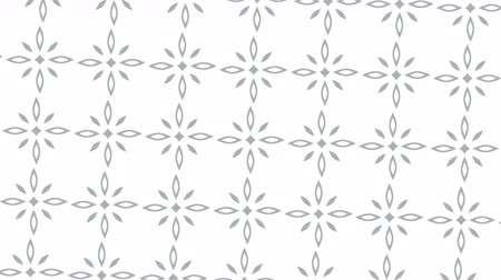 em branco : 2D loop animation of a rotating background of abstract rotating geometric flowers. 4K video clip