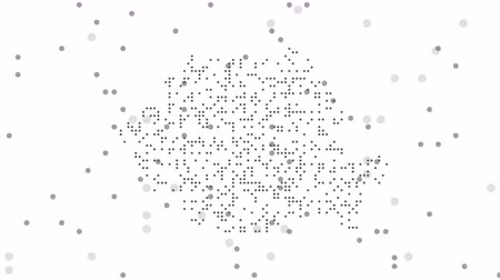 intricacy : Romania Dotted Map Networking Gray Dot Motion Graphic 4K UHD. The Romania abstract map is assembled from falling dot pixels. Stock Footage