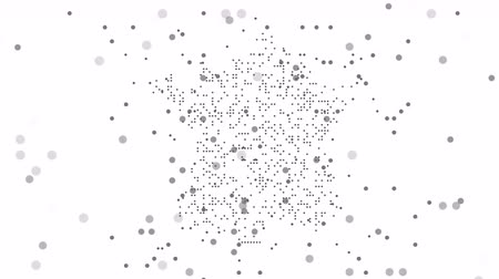 šedé pozadí : Map dotted polka dot pixel particle France, the dots falling style. 4K video animation. As soon as possible will be able the other countries