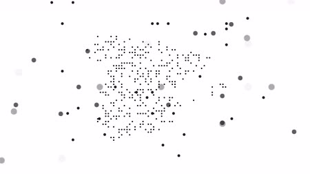 šedé pozadí : Map dotted polka dot pixel particle Spain, the dots falling style. 4K video animation. As soon as possible will be able the other countries Dostupné videozáznamy
