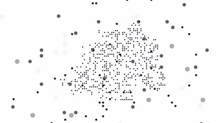 cartografia : Map dotted polka dot pixel particle Vatican, the dots falling style. 4K video animation. As soon as possible will be able the other countries