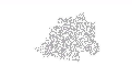 cartografia : Map dotted polka dot pixel particle Vatican, the dots style. 4K video animation. As soon as possible will be able the other countries Vídeos