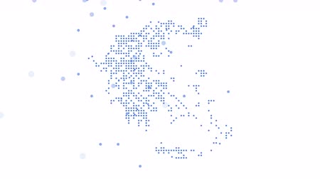 cartografia : Map dotted polka dot pixel particle Greece, the dots falling style. 4K video animation. As soon as possible will be able the other countries Vídeos