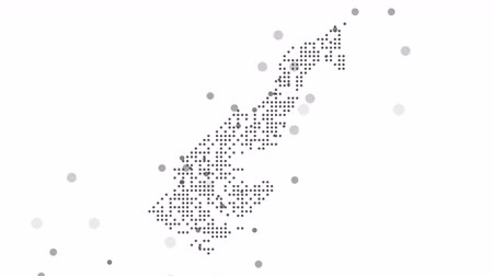 šedé pozadí : Map dotted polka dot pixel particle Monaco, the dots falling style. 4K video animation. As soon as possible will be able the other countries