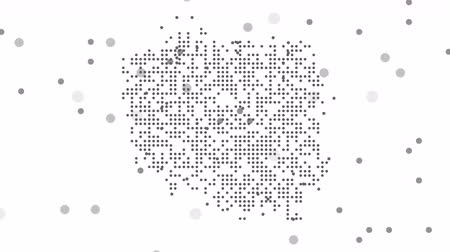 cartografia : Map dotted polka dot pixel particle Poland, the dots falling style. 4K video animation. As soon as possible will be able the other countries