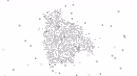 западный : Bolivia Dotted Map Networking Dot Motion Graphic 4K. The appearance and disappearance of the map of abstract Bolivia.
