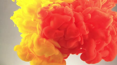 yellow ink : Color ink in water. Abstract video. Stock Footage