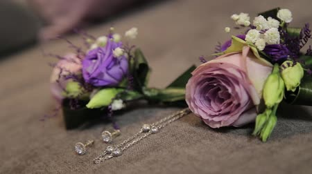 shluk : Weddings boutonniere and accessories groom and bride Dostupné videozáznamy