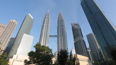 View of The Petronas Twin Towers on July 28,2018 in Kuala Lumpur, Malaysia. It is famous landmark of Malaysia.
