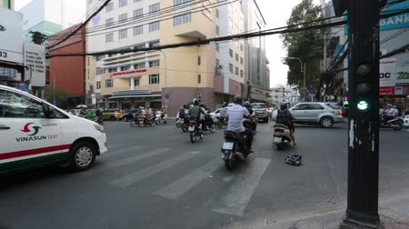 SAIGON - JULY 25: Road Traffic on July 25, 2018 in Saigon (Ho Chi Minh City), Vietnam Stock Footage