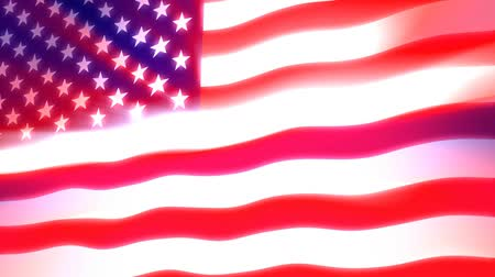 esquerda : Glowing, shining and waving USA flag. This animation is pinned on the left, gives the movement a true flag on pole feel. Seamless HD 1080 loop.