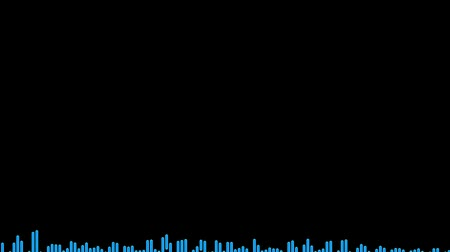 yayın : Audio waveform spectrum animation with simple drum beat I created from scratch. Seamlessly loopable video and audio. 120bpm, adjust to your bpm.-