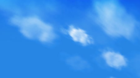 bulanık : Puffy White Clouds & Blue Sky. Seamless looping video animation.-