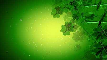 慶典 : Celebrate St. Patricks Day with these awesome 4 leaf clovers! Seamless HD 1080 loop.- 影像素材