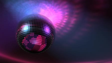 boate : High rez raytraced 3D rotating Disco Ball with lights on ceiling. Seamless loop.