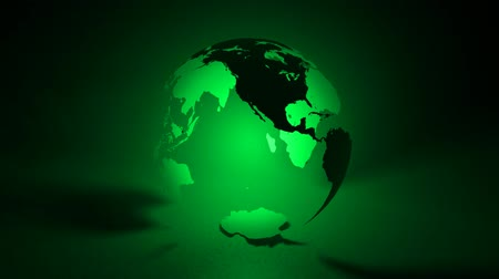 planeta : Transparent 3D Earth globe glows from light within. Surfaces have slight texture. Camera orbits around. Seamless looping video HD 1080.- Vídeos