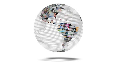 fırsat : Earth Map Global Media Video Wall Sphere Stok Video