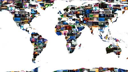 comunicazione globale : Earth Map Global Media Video Wall