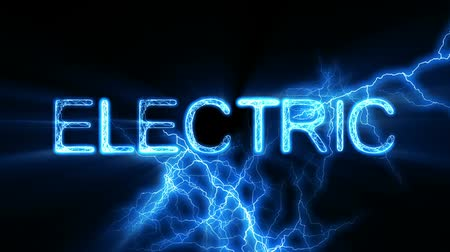 único : Electrical arcs zapping and pulsing around the word ELECTRIC. Seamless looping video animation.  Stock Footage