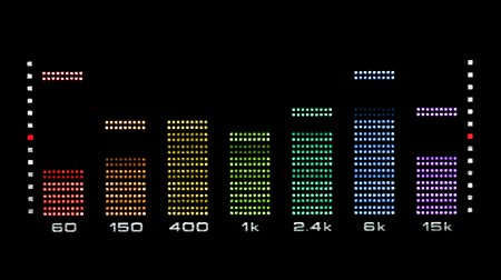 spectrum : Video of real graphic equalizer readout. Seamlessly loop-able video.-