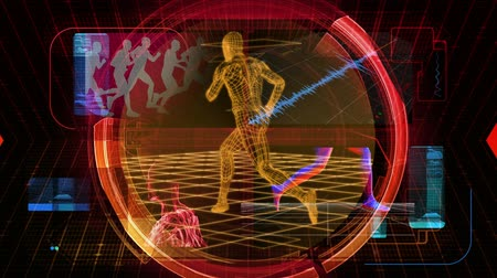 anatomia : Fitness Report graphic main title, videos and images in the background. Seamless looping video. More in this series in my portfolio. Vídeos