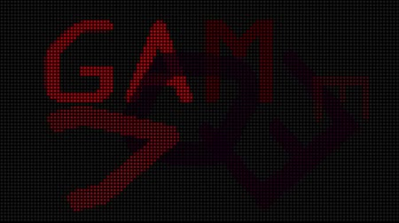 játék : Video graphic of GAME OVER text flashing and pulsing on screen with 8 bit graphic look.- Stock mozgókép