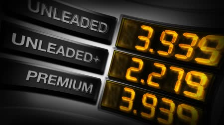 pompki : HD video animation loop of digital gas prices display on pump. Digital text number readout.-