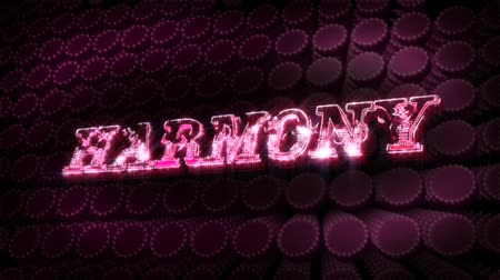 восхищенный : Harmony motion graphic with text