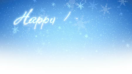 текст : Happy Holidays text with snow and snowflakes falling, brrrrrr! HD 1080  Seamless Loop.