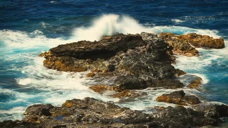 natura : Shot on tripod of the rocky north coast of Maui in Hawaii.-