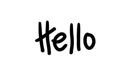 načmárat : Handwriting animation of the word hello on white background.-