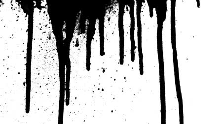 gotas : Ink drips and splatter runs down. Shot on 1080 HD.-