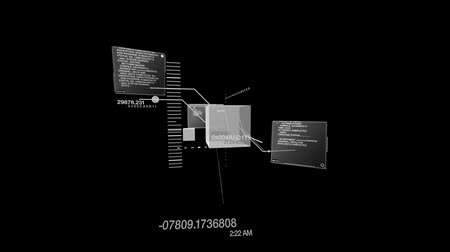 etkileşim : (HD Loop) - Abstract data code interface matrix and info typing on screens. HD 1080 Seamless loop.-