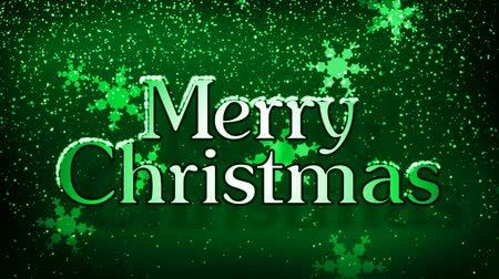 mrożonki : Merry Christmas motion graphics animation with text and snowflakes falling. 10 second seamless loop, 1080 HD.-