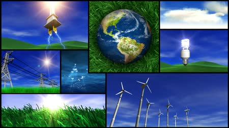 water conservation : Montage of various Earth, nature and greenrenewable energy videos. Seamless looping video. All videos are available in my portfolio as separate videos.