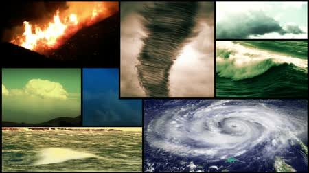 Various weather related videos in a montage layout. All videos are available in my portfolio as separate videos.