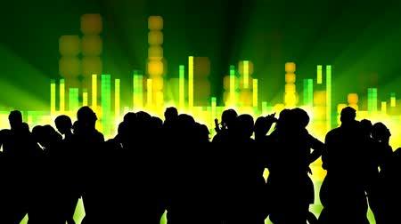 dança : 3D animation vector sillhouette of people dancing at club. HD 1080 Seamless looping video animation. More in this series.  Animated 3D.