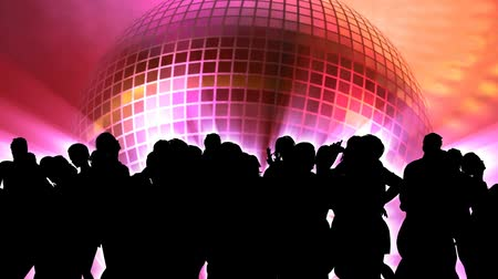 3D animation vector sillhouette of people dancing at club. HD 1080 Seamless looping video animation. More in this series.  Animated 3D. V.5