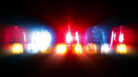 syrena : Composite video of police car lights flashing