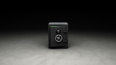 cadarço : 3D animation, safe opens and camera flies inside. Key-able green inside. Green 255.