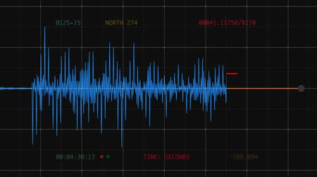 Animation of large earthquake digital seismograph readout (Richter scale).- Vídeos