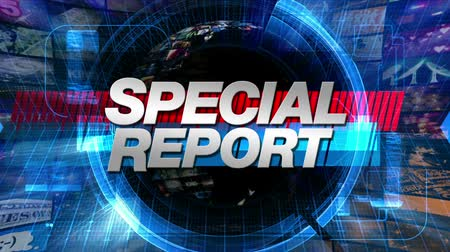 Special Report graphic main title, videos and images in the background. All images are available in my portfolio as separate elements.