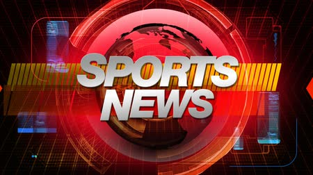 broadcast video : Sports News graphic main title. HD seamless looping video animation. See all the other elements in this series to create your complete broadcast package.-