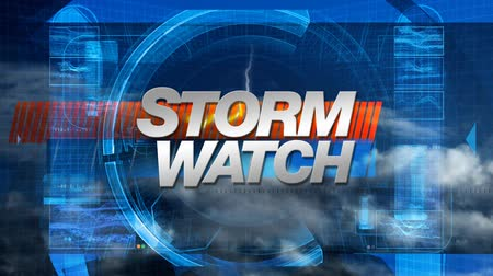 fırtına : Storm Watch graphic main title, clouds and lightning in the background.-
