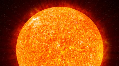 solar : Photo-realistic animation of the Sun in space. Detailed fire pulsing and evoling texture. HD 1080 looping clip.- Stock Footage
