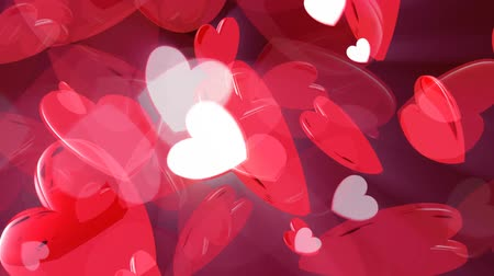 bonding : Looping red pink hearts, HD 1080 Seamless Loop.  V1, HD 1080 Loop.-
